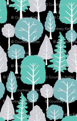 Blue grey trees