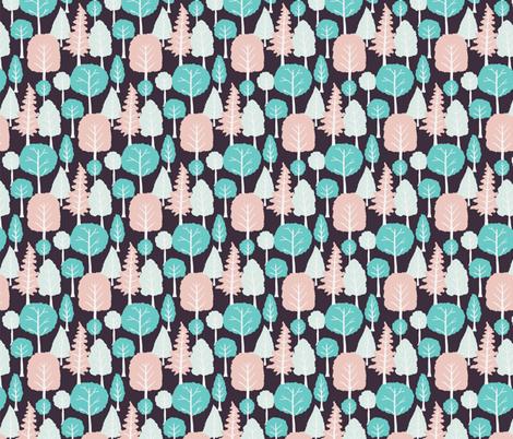 Light trees fabric by onelittleprintshop on Spoonflower - custom fabric