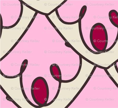Pink decorative scallops