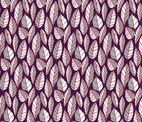 Earthy retro leaves fabric by onelittleprintshop on Spoonflower - custom fabric