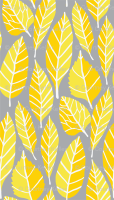 Grey and yellow leaves