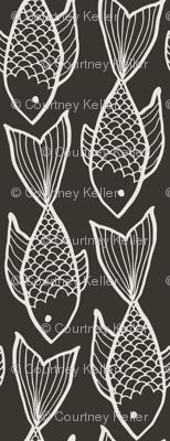 Ivory Fish on Black