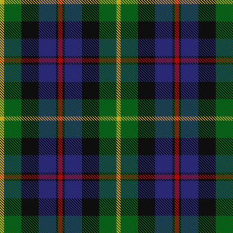 Farquharson Tartan // Small fabric by thinlinetextiles on Spoonflower - custom fabric