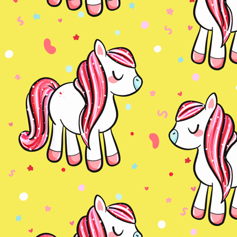 But I Want A Pony! fabric by how-store on Spoonflower - custom fabric