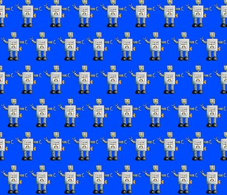 Robot Blue fabric by interrobangart on Spoonflower - custom fabric