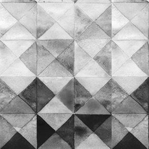 Scandinavian gray watercolor rhombuses