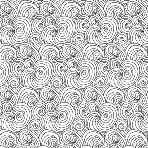 Abstract circles and swirls doodle pattern