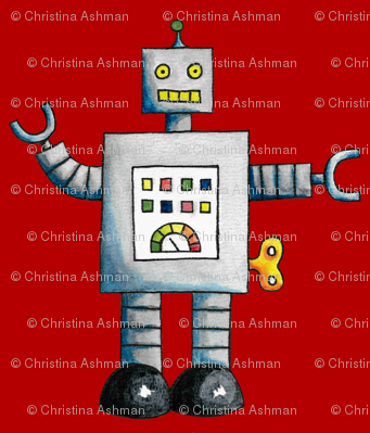 Robots (Red Background)