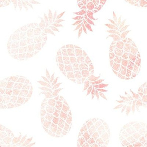 "8"" Blush Pineapple Toss // White"