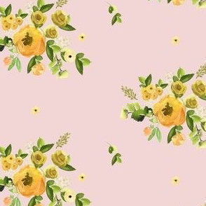 "4"" Sunrise Florals - Peach"