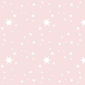 Blush Sky with White Stars