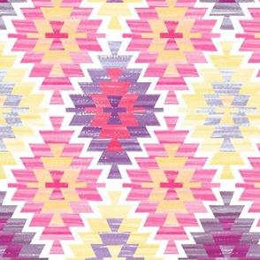 pink pastel kilim