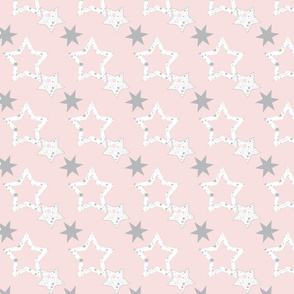 Stars for January on blush