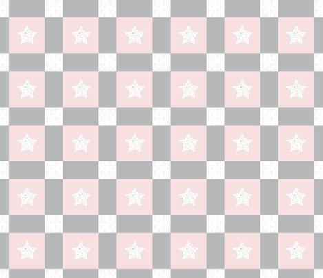 January Stars Patchwork fabric by karenharveycox on Spoonflower - custom fabric