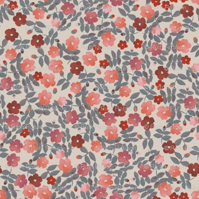 Vintage quilt floral