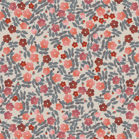 Vintage quilt floral fabric by ruth_robson on Spoonflower - custom fabric