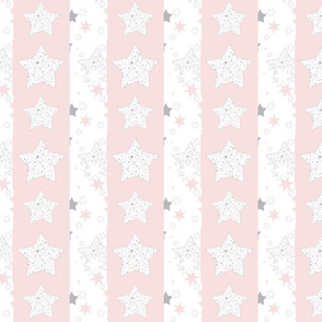 January Stars Blush Constellation stripe