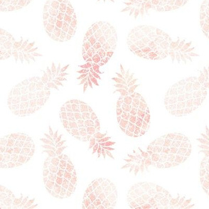 "6"" Blush Pineapple Toss // White"