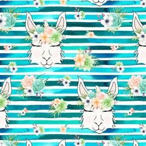 """2.25"""" llama blue stripes"""