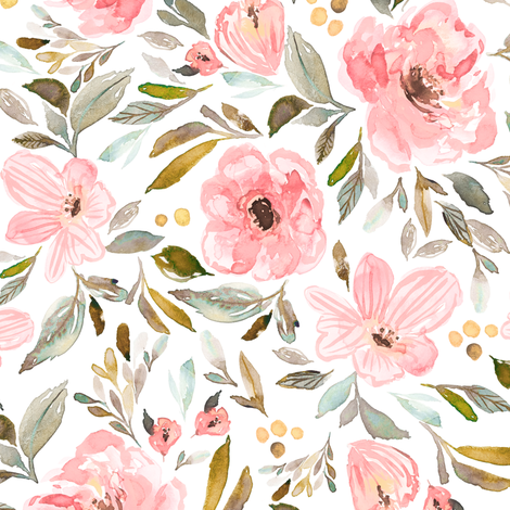 Indy Bloom Design sweet pea garden c fabric by indybloomdesign on Spoonflower - custom fabric