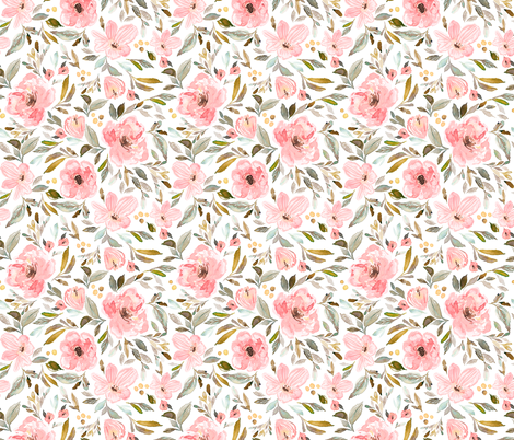 Indy Bloom Design Sweet pea garden B fabric by indybloomdesign on Spoonflower - custom fabric