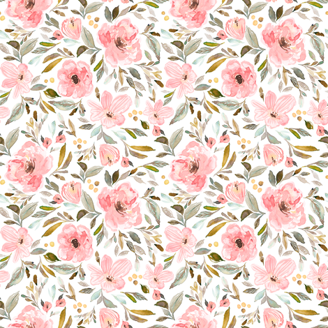 Indy Bloom Design Sweet pea garden A fabric by indybloomdesign on Spoonflower - custom fabric