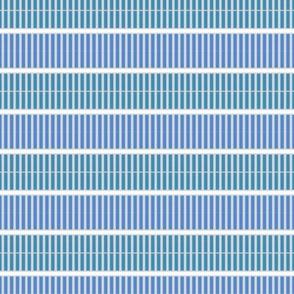 EL Designs blue and green micro stripe