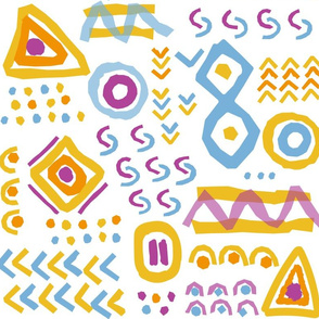 African style geometric pattern