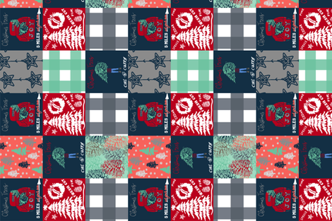 Christmas Blanket /90 fabric by fat_bird_designs on Spoonflower - custom fabric
