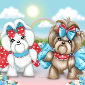 Welcome Spring Maltese  and Yorkie Panel