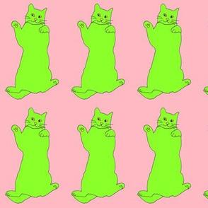 greenyellowcatonpink