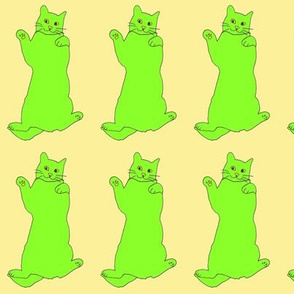 greenyellowcatonyellow