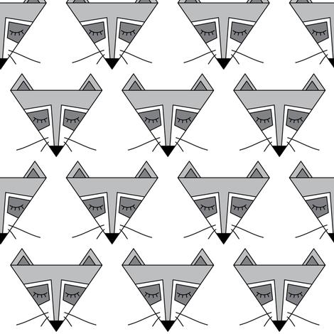 raccoon-triangles fabric by lilcubby on Spoonflower - custom fabric