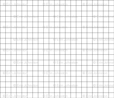 One inch gridlines black and white grid thinner