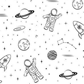 monochrome - space print