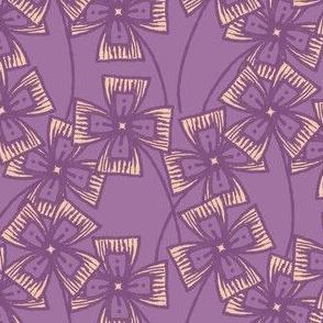 Boxy Clarkia Amoena - Vintage Matchbox - Violet