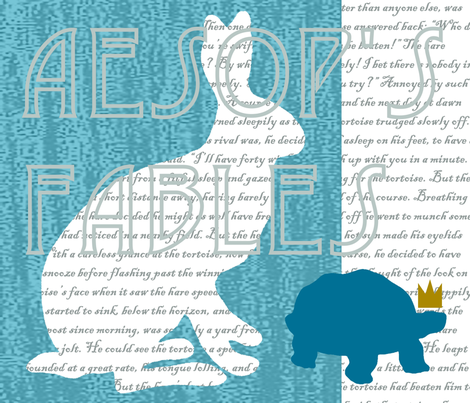 the tortoise and the hare fabric by farreystudio on Spoonflower - custom fabric