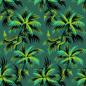 Snake Palms - Green - AndreaAlice
