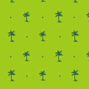 Tiny Palms - Lime / Green - AndreaAlice