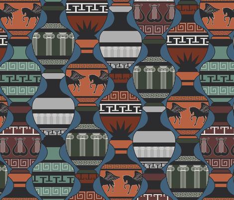 Greek Vases fabric by meredith_watson on Spoonflower - custom fabric