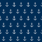 Anchors 307- navy white anchors