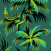 Snake Palms - Green - Large Scale - AndreaAlice