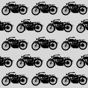 Antique Motorcycles on Grey // Small