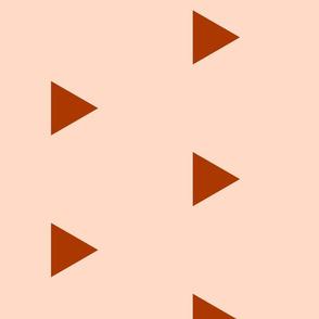 Burnt Orange Triangles on Blush Pink