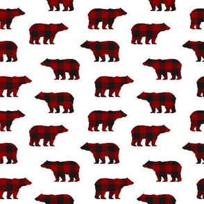 Buffalo Plaid Bears // Small
