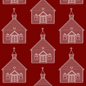 Little Church on Burgundy // Large