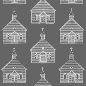 Little Church on Grey // Large