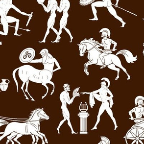 Greek Figures on Brown // Large