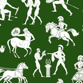 Greek Figures on Green // Large