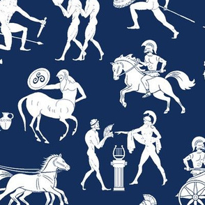 Greek Figures on Navy // Large